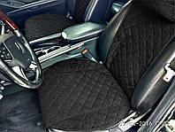 Накидки на сиденья автомобиля премиум (передние, AVторитет, черный)