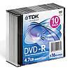 DVD-R TDK 4.7 GB/120 min 16x Slim