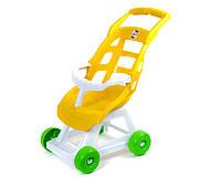 Детская коляска для кукол, Орион желто-белая (147)