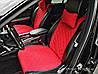 Накидки на сиденья автомобиля премиум (передние, AVторитет, красный)