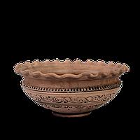 Миска - волна глиняная Шляхтянская AD04 Покутская керамика