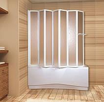 Шторка для ванн Aquaform NOVUM-7 семи элементная 166х140 профиль белый 170-31474, фото 3
