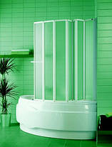 Шторка для ванн Aquaform NOVUM-7 семи элементная 166х140 профиль белый 170-31474, фото 2