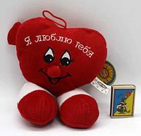 """Мягкая музыкальная игрушка-валентинка LS25078/1 """"Сердце"""" с ножками"""