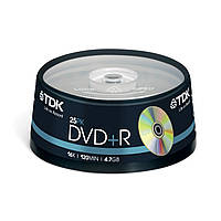 DVD-R TDK 4.7 GB/120 min 16x (25 шт Сake Box)