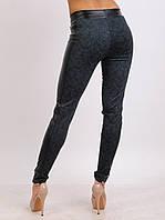 Леггинсы брюки Турция с лампасами из экокожи