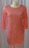 Платье женское нарядное кружевное розовое мини бренд South р.42 6497
