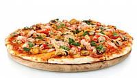Пицца с коктейлем морепродуктов