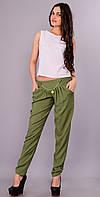 Мирра.Молодёжные брюки женские.Хаки.(Р).