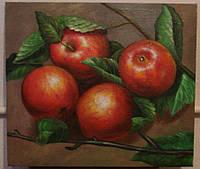 """Картина написанная маслом """"Яблоки"""""""
