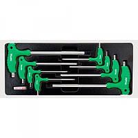 Набор ключей TORX с ручкой L-обр. (в ложементе) Toptul GAAT0804