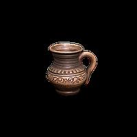 Чашка (филижанка) округлая глиняная Шляхтянская AF01 Покутская керамика