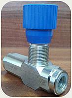 """Дроссель 0-15л/мин(резьба 1/4""""), регулируемый с обратным клапаном"""