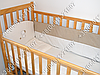 Детское постельное белье в кроватку с вышивкой Песик, комплект 8 ед. без балдахина (бежевый), фото 2