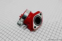 Патрубок карбюратора КРАСНЫЙ  (скутер 125-150куб.см)