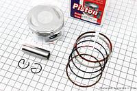 Поршень, кольца, палец к-кт 125cc 52,4мм Keeway STD (палец 15мм)HAORUN  (скутер 125-150куб.см)