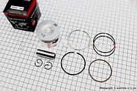 Поршень, кольца, палец к-кт 125cc 52,4мм +0,50  (скутер 125-150куб.см)