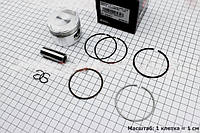 Поршень, кольца, палец к-кт 190cc 63мм STD (палец 15мм)  (скутер 125-150куб.см)