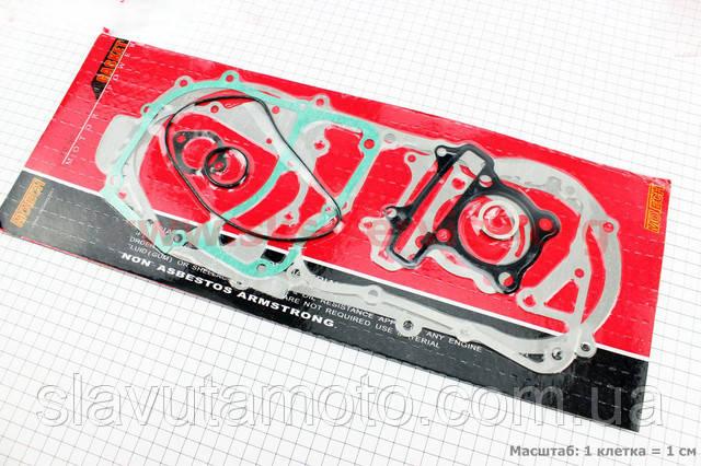 Прокладки двигателя к-кт 125cc (короткий вариатор)   (скутер 125-150куб.см), фото 1