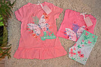 Комплект с лосинами  для девочек 104-134 см
