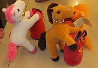 Мягкая игрушка 1337-1 лошадь-копилка музыкальная 20см