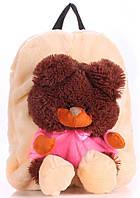 Детский рюкзак KID'S BACKPACKS мишка абрикосовый