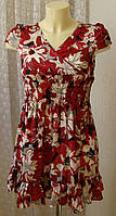 Детское платье летнее яркое модное бренд Sisley р.10-11 лет 6499
