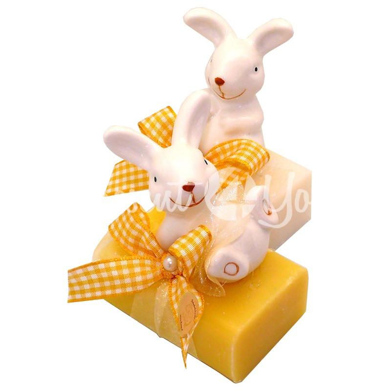 Подарочное натуральное мыло ручной роботы с овечьим молоком Австрия «Зайчик» 100 гр. Florex