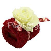 Подарочный набор: натуральное мыло и мочалка «Роза» Florex