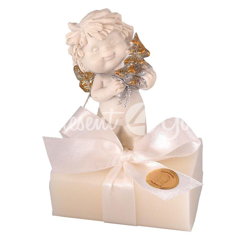 Подарочное натуральное мыло ручной роботы с овечьим молоком Австрия «Ангел» 100 гр. Florex