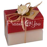Подарочное натуральное мыло ручной роботы с овечьим молоком Австрия «Розы» 2 шт.х100 гр. Florex