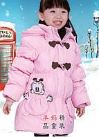 Детская курточка пуховик с капюшоном