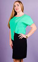 Майа. Модное женское платье супер сайз. Мята., фото 1