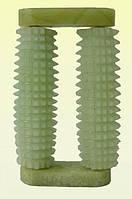 Массажер нефритовый без ручки - два валика - ежика,в футляре, 8,5 х 2,5x 1,7 см.