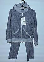 Стильный спортивный костюм для девочки 2-6 лет Трехнитка темно-серый