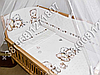 """Детское постельное белье в кроватку """"Бим Бом"""" комплект 7 ед. (мишка сердце), фото 4"""