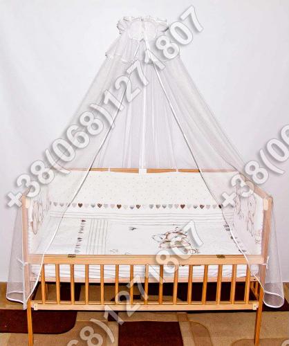 """Детское постельное белье в кроватку """"Бим Бом"""" комплект 7 ед. (мишка сердце)"""