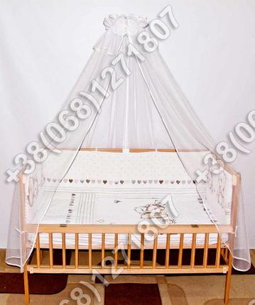 """Детское постельное белье в кроватку """"Бим Бом"""" комплект 7 ед. (мишка сердце), фото 2"""