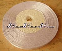 Лента атласная цвет №01 (белый) шириной 0,6 см