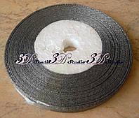 Лента атласная цвет №180 (серый) шириной 0,6 см