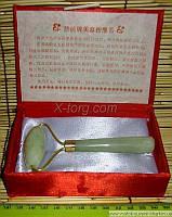 Массажер нефритовый валик-ёжик с ручкой 18х7,5х2 см