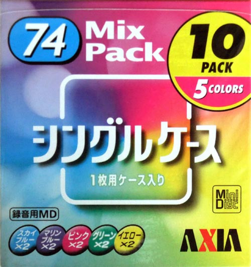 Mini-Disk FUJIFILM  AXIA MD  74 мин  уп 10 шт