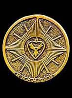 Шунгитовая защитная пластина с изображением христианского символа «Вера, Надежда, Любовь»