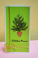 Праздничная открытка hand-made