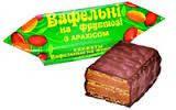 Конфеты вафельные на фруктозе с арахисом, 1кг