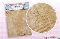 Бумага для декупажа 2 листа 40 х 60 см, плотность 17 г\кв.м 2 листа 40 х 60 см, плотность 17 г\кв.м Vintage газета