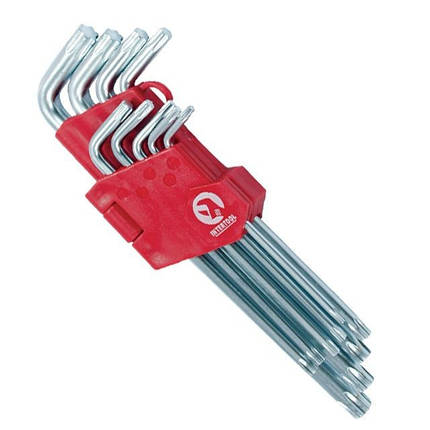 Набор Г-образных ключей TORX с отверстием Cr-V INTERTOOL HT-0608, фото 2