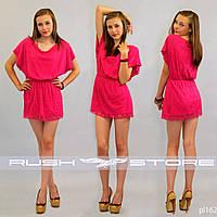 Гипюровое платье с широкими рукавами