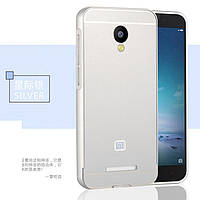 Чехол бампер для Xiaomi redmi note 2 серебро