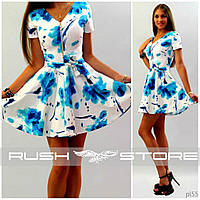 Нежное летнее платье на молнии